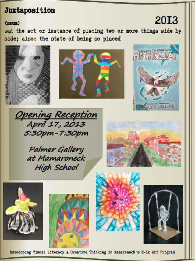 The Mamaroneck School District will hold its districtwide art show starting this evening through May 8.