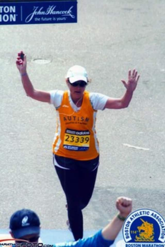 Michele Lawton of Ossining ran in the Boston Marathon but wasn't able to finish the race after the bombings.