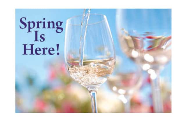 A spring wine tasting at Croton Falls' Front Street Cellar is among the events planned for this weekend.
