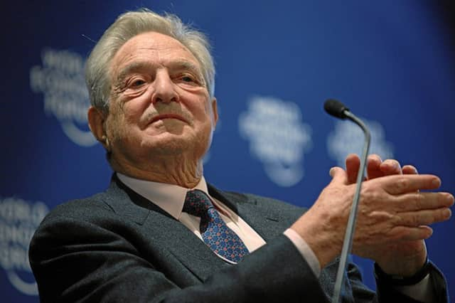 Financier and Bedford resident George Soros of Bedford at Davos