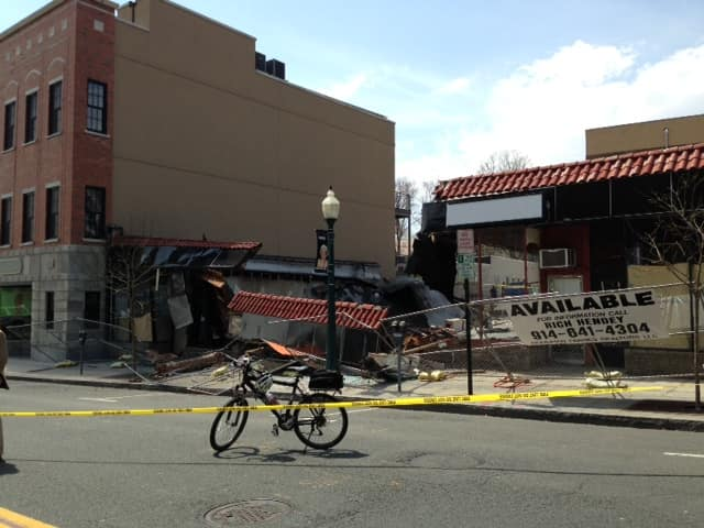A Mamaroneck Avenue storefront collapsed Tuesday afternoon.