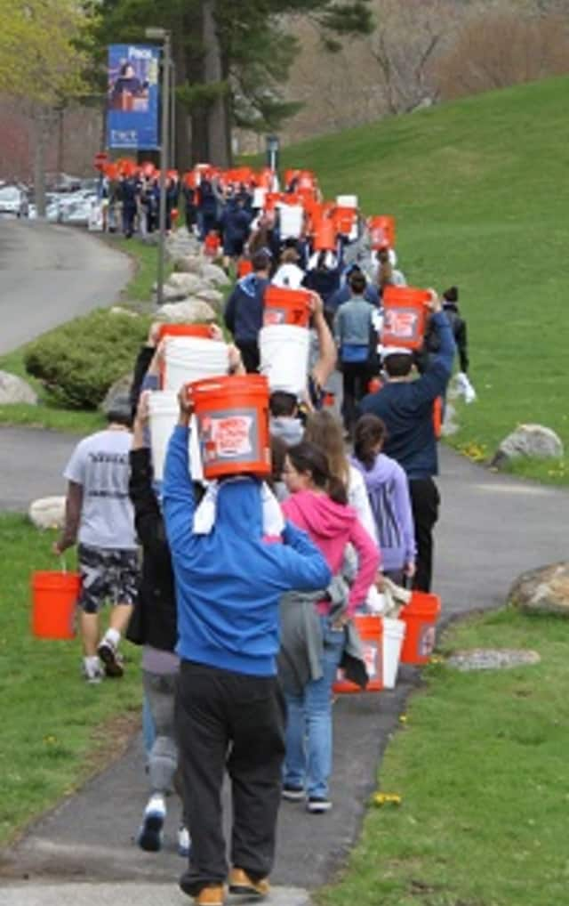 A group of Pace University students have raised $5,000 for a community water well in Islanjandugu, Tanzania after marching a mile with buckets of water on their heads on Saturday.