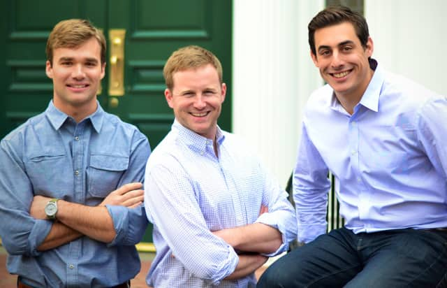 Peter Maglathlin, left, Pat Petitti and Rob Biederman co-founded HourlyNerd.com in a Harvard Business School class.