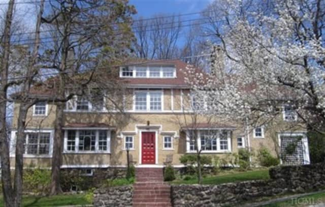 This house on Nyac Avenue in Pelham is hosting an open house this weekend.