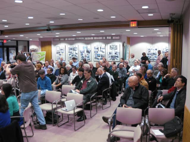 More than 100 New Castle residents attended Tuesday night's Chappaqua Crossing public hearing.