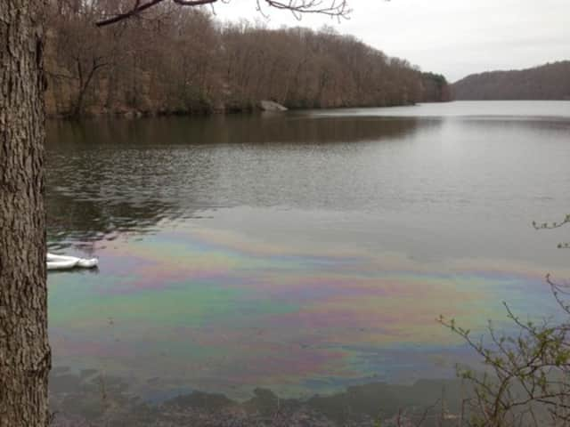 Tuesday's fuel spill at Byram Lake was contained by late Tuesday evening, Bedford and Mount Kisco officials said.