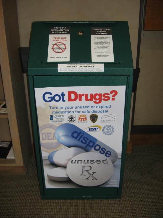 New Canaan residents can drop off any unwanted medications at the police station.
