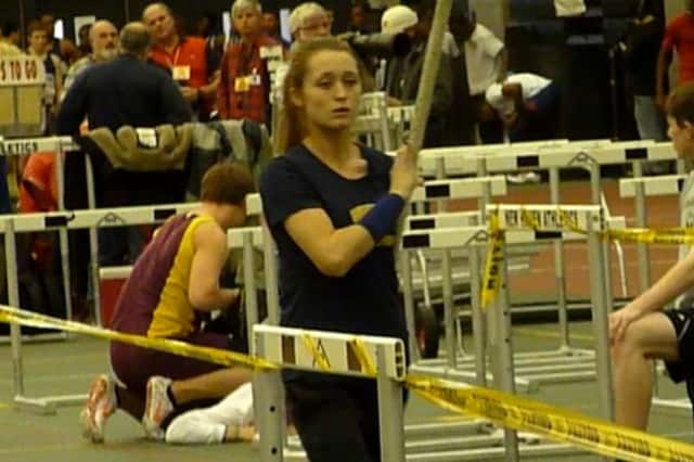 Weston's Emily Savage won the pole vault Thursday at the Penn Relays. She set state and meet records in the process.