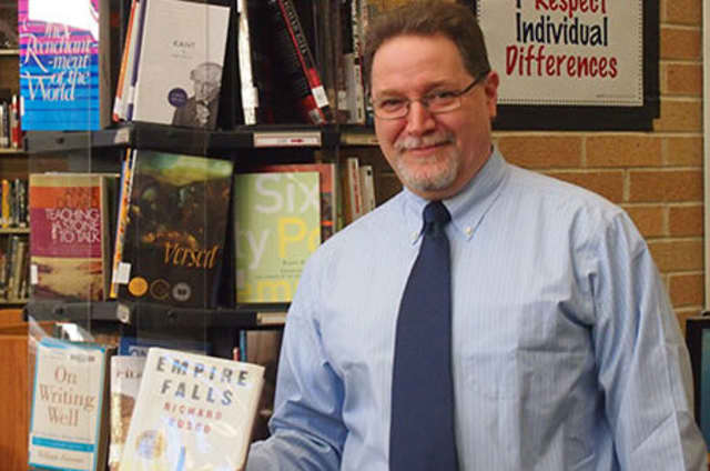 """Harrison High School teacher Gary Glauber created a poem using words and phrases from Richard Russo's book """"Empire Falls."""""""