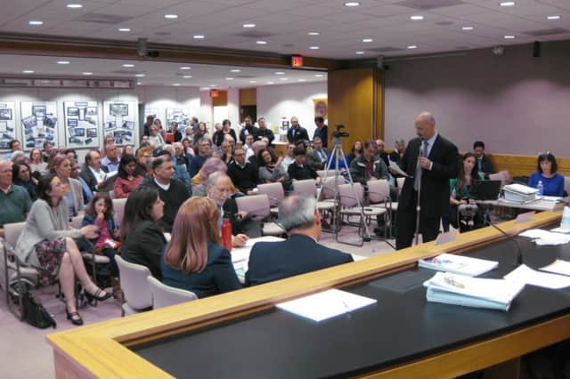 More than 100 residents packed New Castle Town Hall on Tuesday night to voice their concerns on the latest proposal.