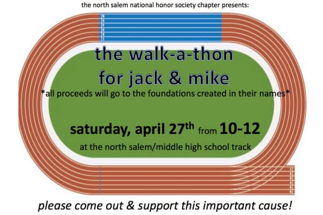 A North Salem National Honor Society walk-a-thon for the Baumler-Robson Foundations was held Saturday.