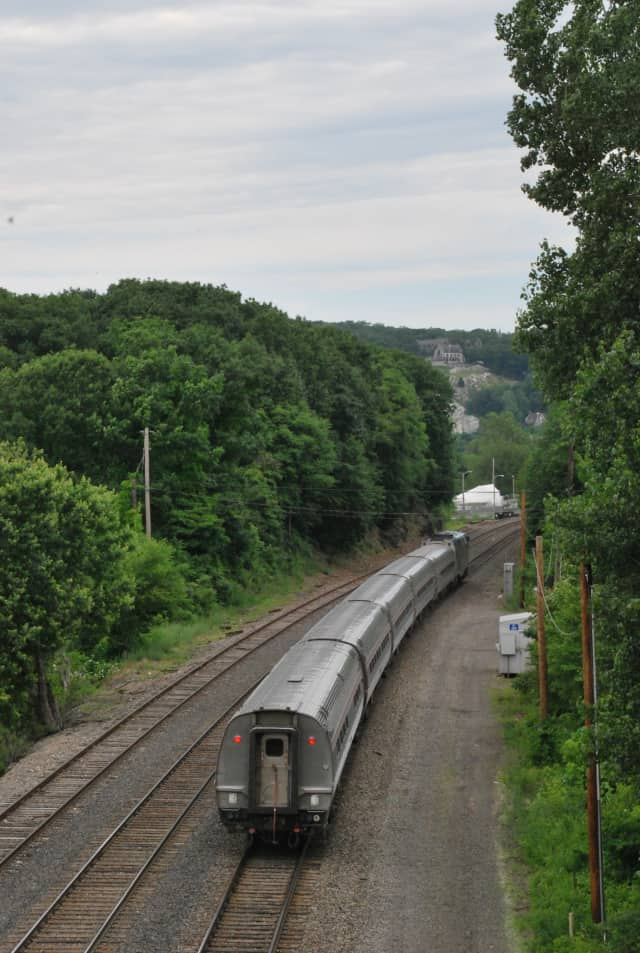 A $6.8 million project will help stabilize an embankment on the Metro-North Railroad's Hudson Line just north of Peekskill, with similar work planned elsewhere.