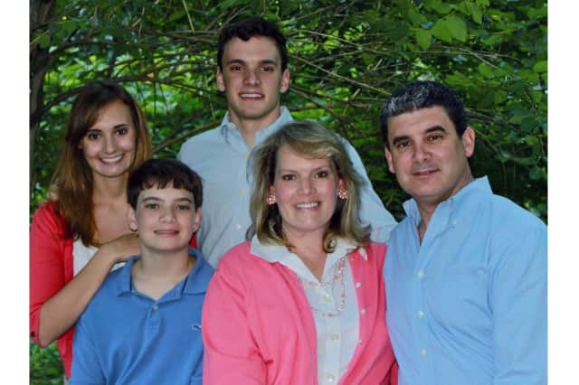 Tom Fischetti, pictured with his wife Tammy and three children, has been endorsed by the GOP for Lewisboro Town Supervisor.