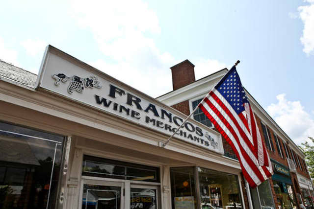 Francos Wine Merchants and other stores on Elm Street will be celebrating spring this weekend with New Canaan In Bloom.