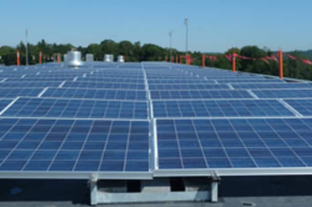 Somers High School's 50kW solar PV system.