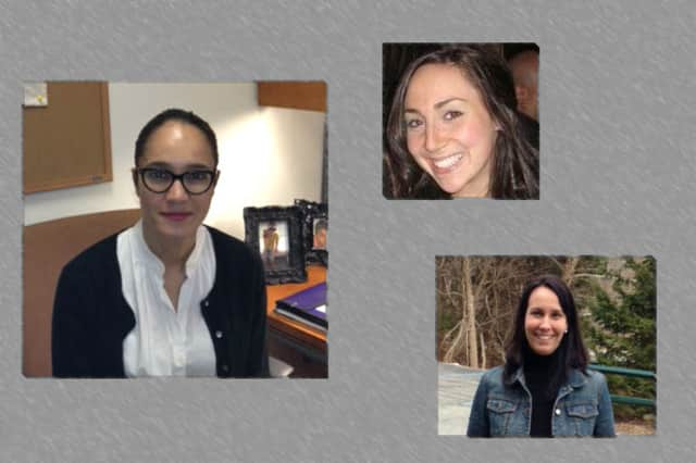 Natalia Echeverri, Randi Glassman and Sarah Coakley, pictured clockwise from left, have joined the staff of Purdys Friends of Karen.