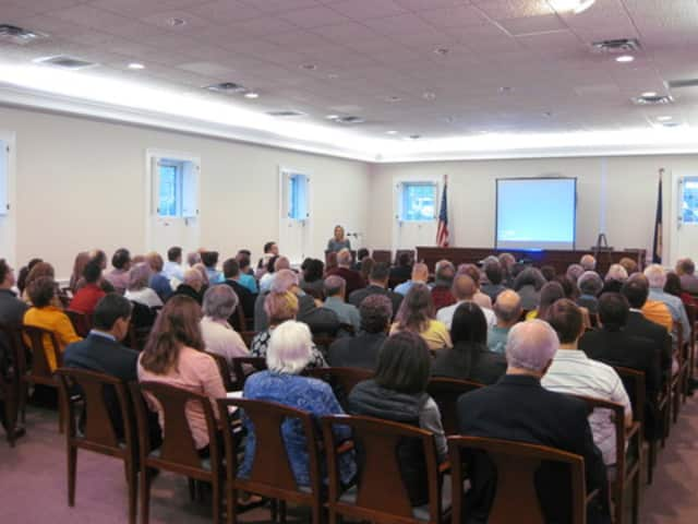 More than 100 Westchester County residents packed Bedford Town Court House Wednesday night.