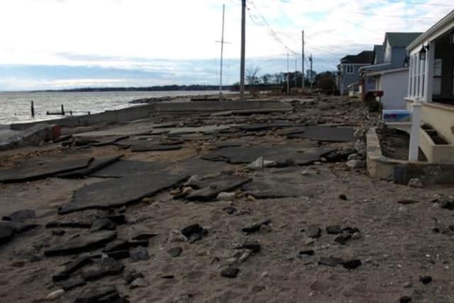 Fairfield Beach Road in Fairfield was destroyed last year in Hurricane Sandy.