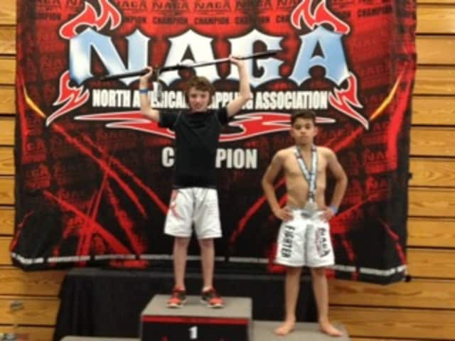 Valhalla's Brody McGuinn, left, took two first place gold medals at the East Coast Regional NAGA Tournament.