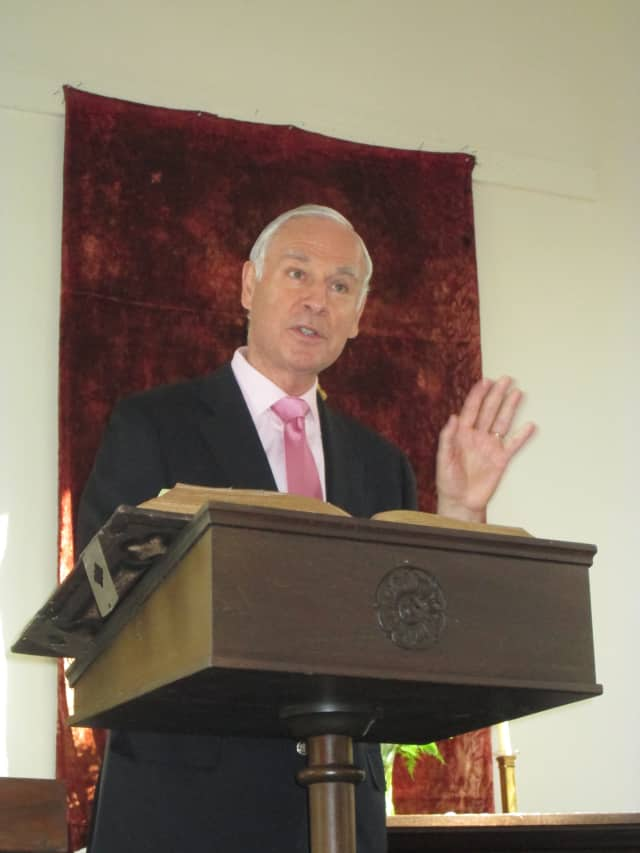 Chairman Emeritus of Young & Rubicam Peter Andrew Georgescu recently visited St. Mary's church of Bedford and North Castle as a guest speaker.