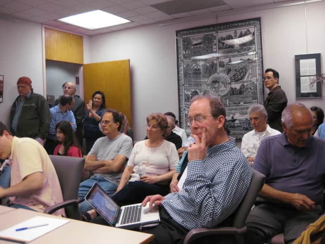 Although New Castle's Tuesday night work session was not a public hearing, more than 20 residents came to listen in.
