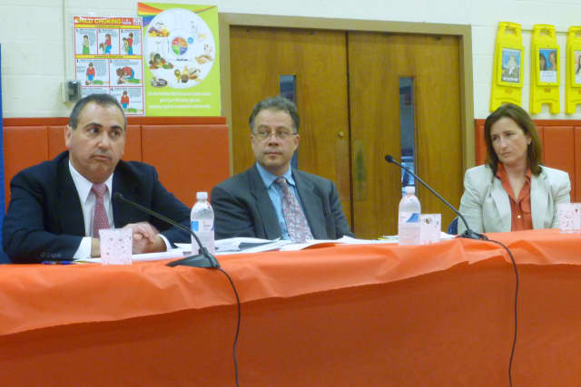 Tarrytown school board candidates participated in a forum Tuesday night at the John Paulding School.