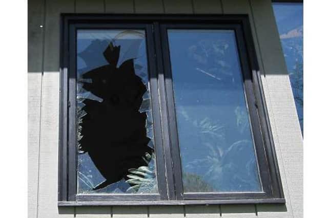 A turkey broke a window of a North Salem home.