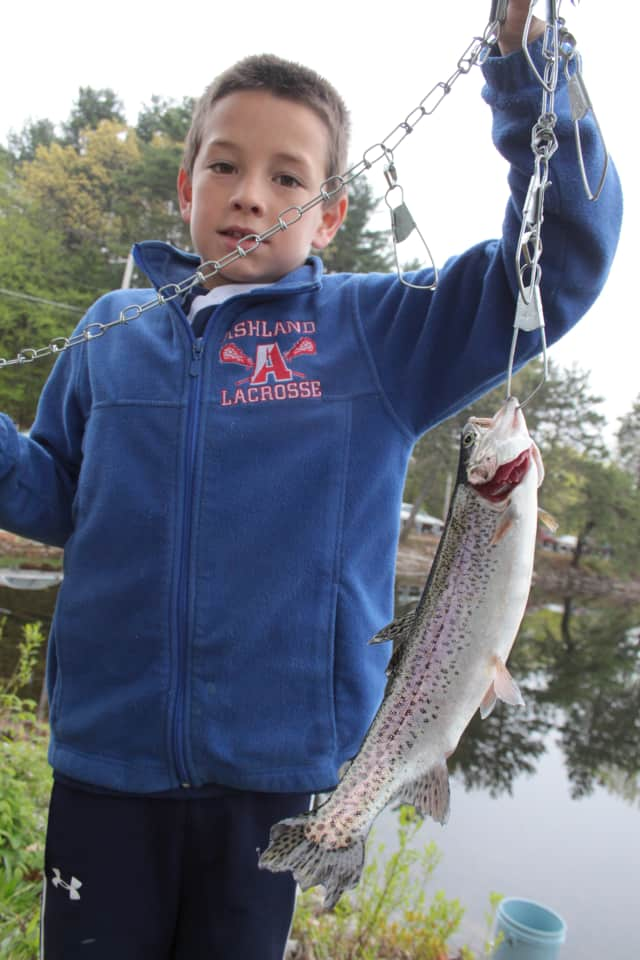 Kids go fishing on Saturday during the Pleasantville Recreation Department's annual fishing derby.
