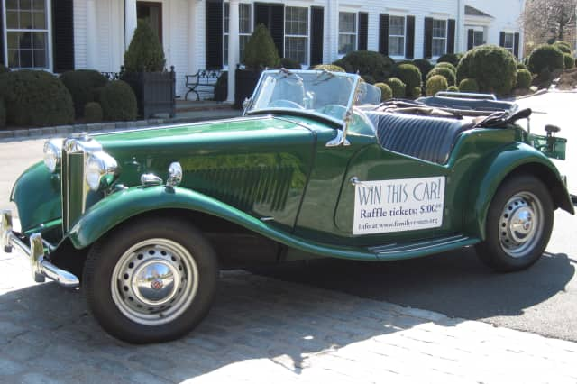 "Family Centers is raffling off a ""Great Gatsby""-style 1951 MG-TD Convertible."