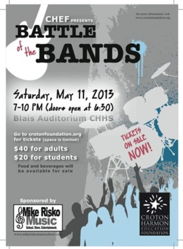 A batle of the bands will be held at Blais Auditorium at Croton-Harmon High School Saturday night.