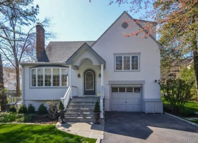 This four-bedroom tudor on Meadow Way in Irvington is listed for $1.1 million.