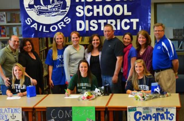 Lindsey Luposello and Kennedy Sherman will play at Southern Connecticut State University in and Angela Marriott will play both lacrosse and soccer at SUNY Morrisville.