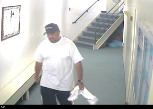 Wilton police released this photo Tuesday of the man they believed burglarized a locked locker at the Wilton YMCA.