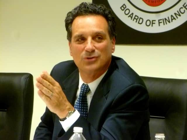 Timothy Abbazia, chair of the  Stamford Board of Finance, will lead the board in setting the tax rates for the upcoming year.