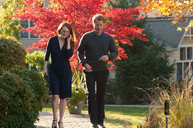 """Actors Julianne Moore and Greg Kinnear filmed """"The English Teacher"""" on the campus of Mercy College in Dobbs Ferry in 2012."""