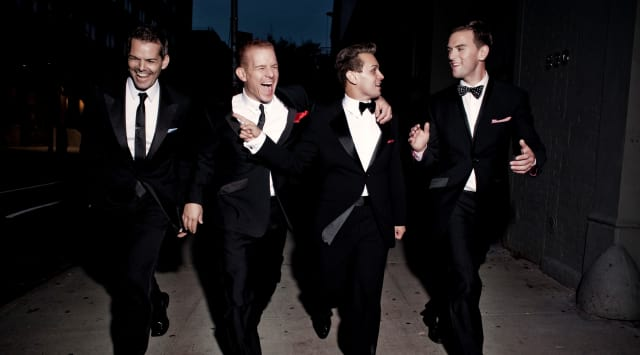 The Midtown Men, from left, J. Robert Spencer, Christian Hoff, Michael Longoria, and Daniel Reichard, will be at the Palace Theater in Stamford Friday night.