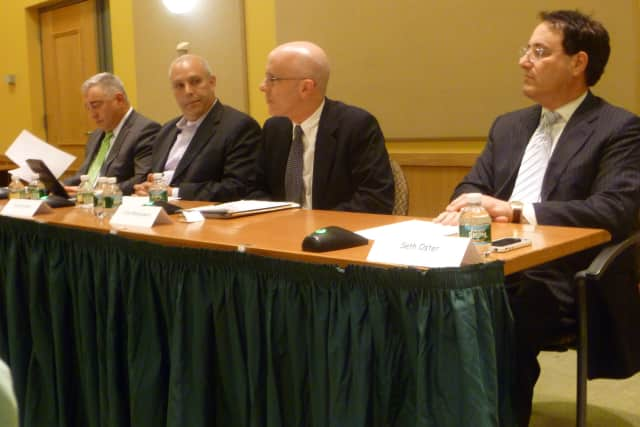 Candidates for the Irvington Board of Education gathered for a forum on Tuesday at Irvington High School.