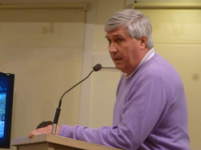 Michael Nowacki of New Canaan believes his first amendment rights were violated with the restrictions the town has placed on him.