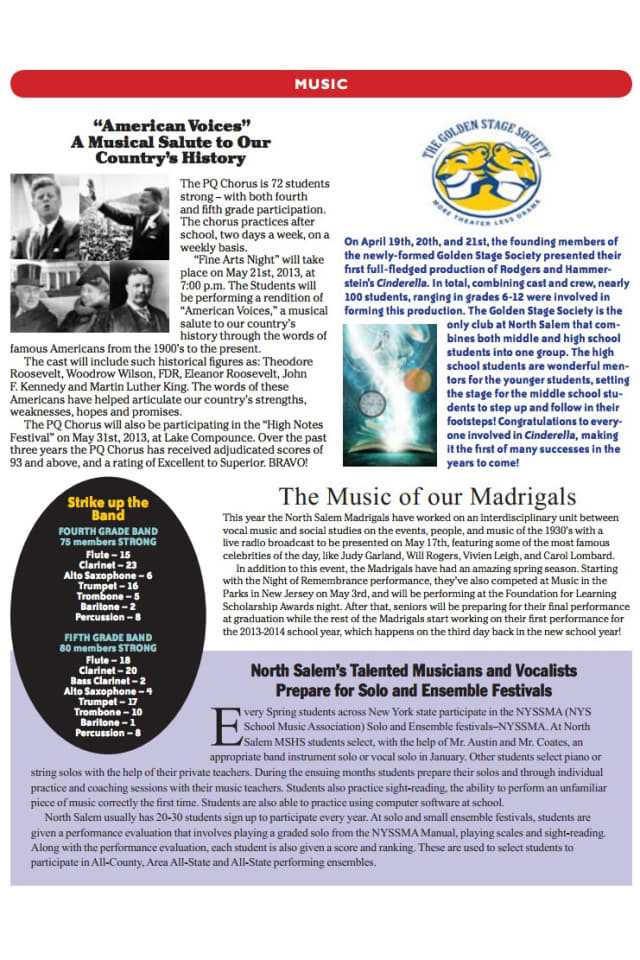 The North Salem Teachers' Association Spring 2013 Newsletter is now available online.