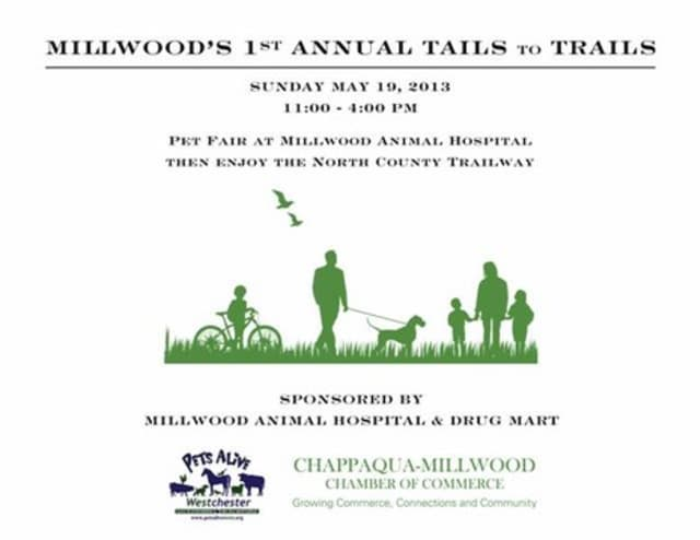 """The Chappaqua-Millwood Chamber of Commerce will hold Millwood's first annual """"Tails to Trails"""" this Sunday."""