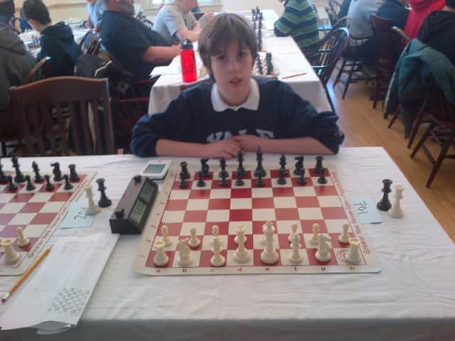 "Dobbs Ferry's Nicolas de T. ""Nico"" Checa playing earlier this year in the Connecticut Chess Open."