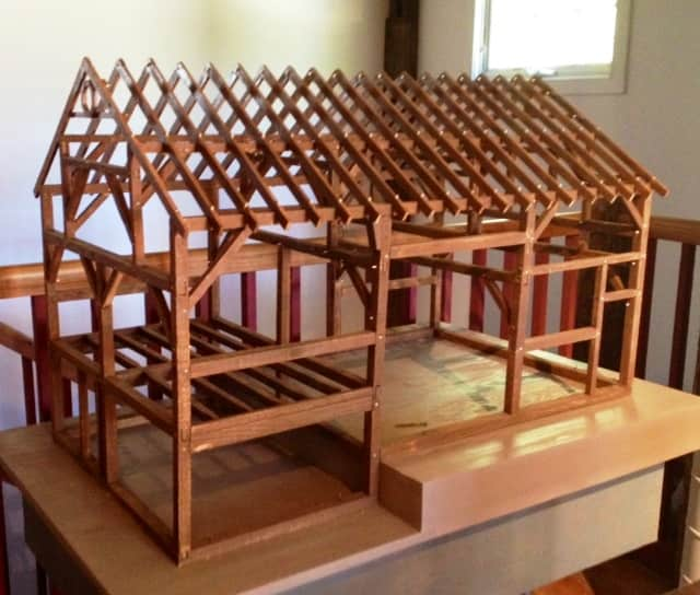 See a miniature replica of the Abbott Barn and learn about barn raising Saturday at the Wilton Historical Society.