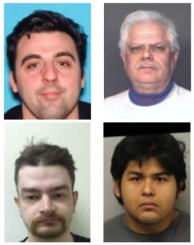 Clockwise (from top left): Jeffrey Mace, Alfredo Vincente, Hector Romero, Jared Allen
