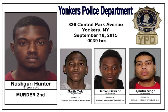The four suspects in the Michael Nolan homicide case.