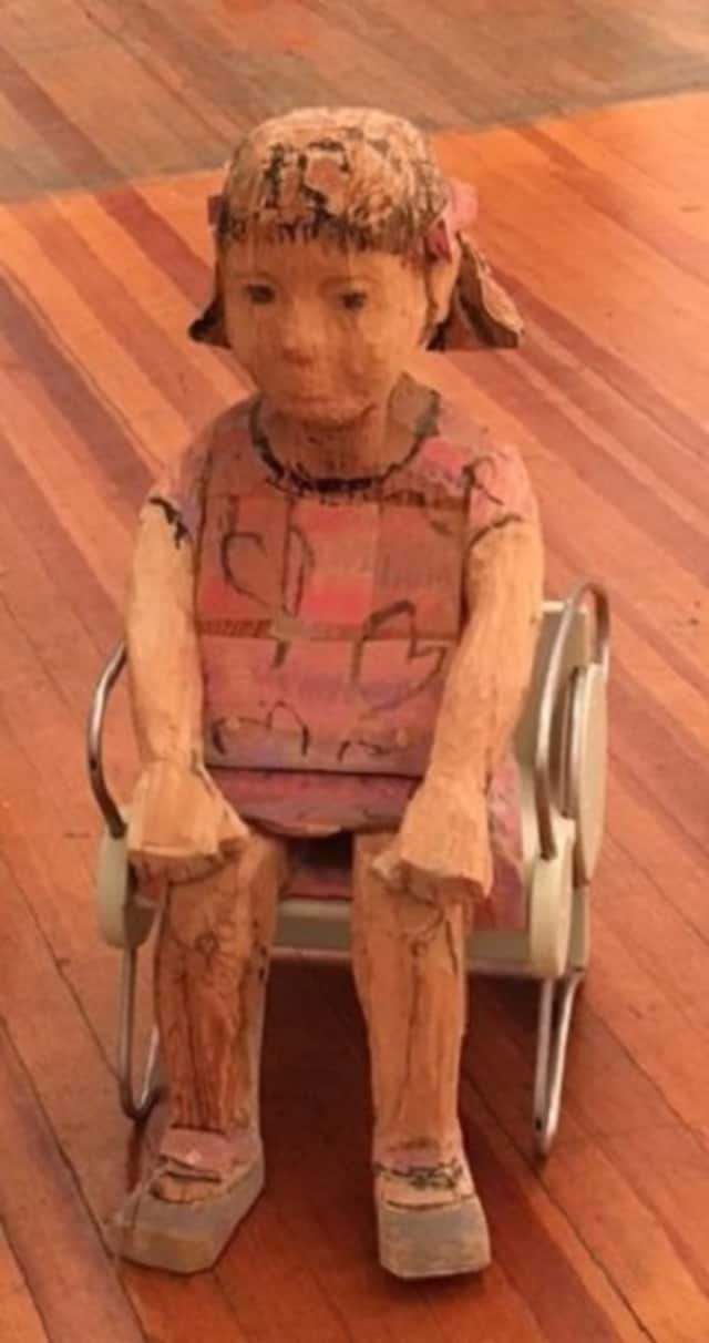A sculpture at the Art Center of Northern New Jersey in New Milford. A juried show will be held in July and August for Bergen County seniors.