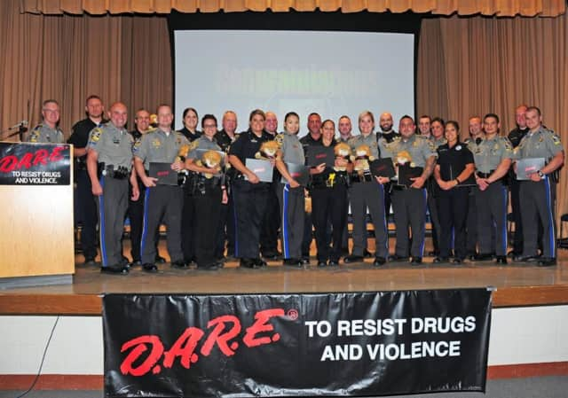Officer Andy Kovlakas and Officer T.J. Garbera both graduated from D.A.R.E. Instructor Training last week.