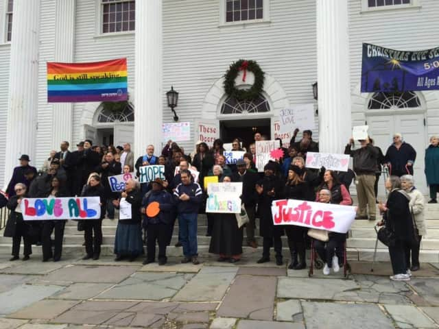 The Norwalk Stands for Peace, Love and Justice Rally will be held Oct. 29 at the First Congregational Church on the Green.
