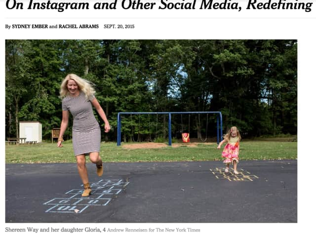 The NY Times featured a Pearl River resident in an article about the use of social media