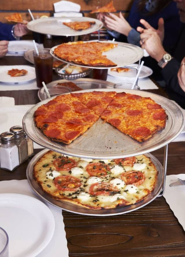 You'll find plenty of 'thin' pizza at Riko's on Long Island.