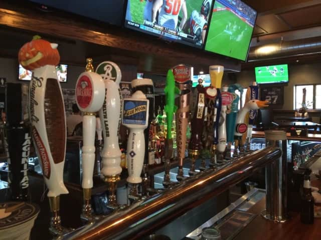 Brews - and TVS -- at Bar One Public House in Fairview.